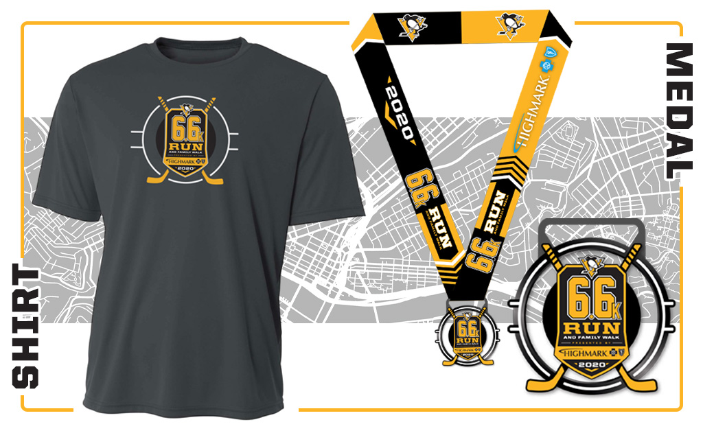 6.6k Shirt and Medal Graphic