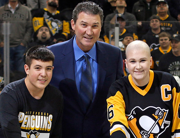Mario Lemieux Drop the Puck